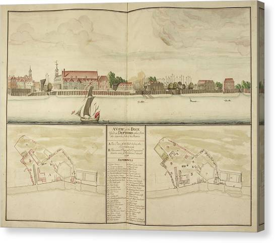 Principals Canvas Print - Illustration Of Deptford Dockyard by British Library