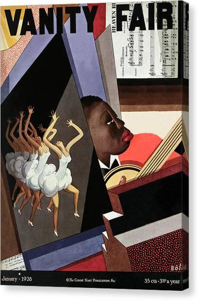 Harlem Canvas Print - Illustration Of Harlem Entertainers by William Bolin