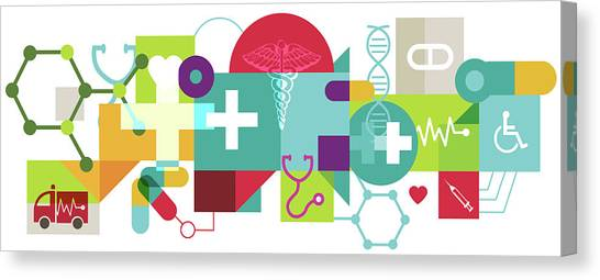 Health Insurance Canvas Print - Illustration Of Health Insurance by Fanatic Studio / Science Photo Library