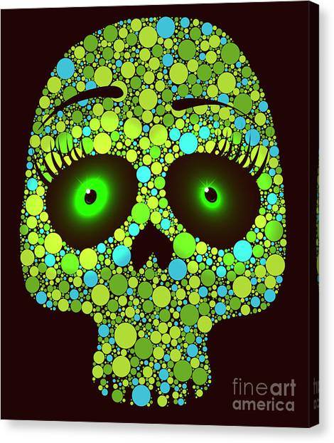 Compose Canvas Print - Illustration Of Skull Made With Colored by Ola-ola