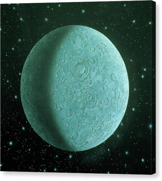 Pluto Canvas Print - Illustration Of The Planet Pluto by Lynette Cook/science Photo Library