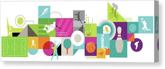 Volleyball Canvas Print - Illustration Of Various Types Of Sports by Fanatic Studio / Science Photo Library