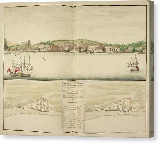 Principals Canvas Print - Illustration Of Woolwich Dockyard by British Library