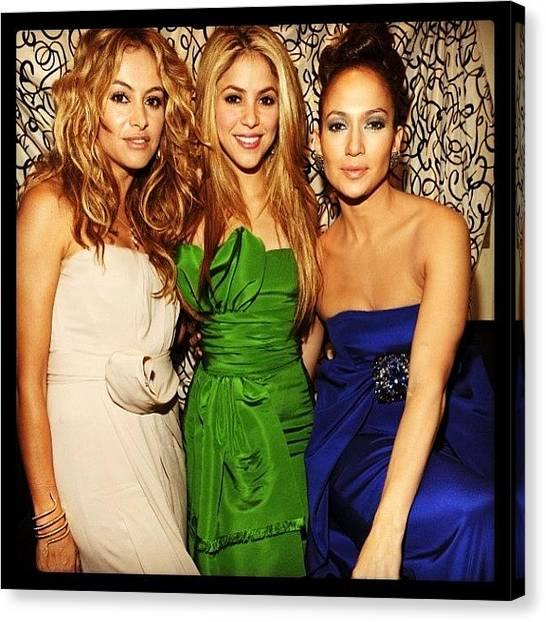 Shakira Canvas Print - #ilove My #divas #paulinarubio #shakira by Oscar Lopez