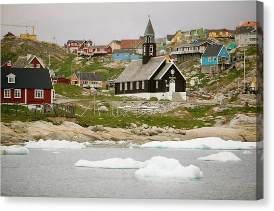 Climate Change Canvas Print - Ilulissat On Greenland by Ashley Cooper