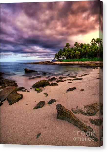 Iluminated Beach Canvas Print