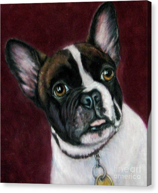 French Bull Dogs Canvas Print - I'm A Frenchie by Beverly Fuqua