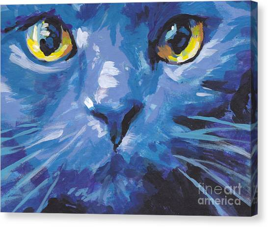 Russian Blue Canvas Print - I'm Blue by Lea S