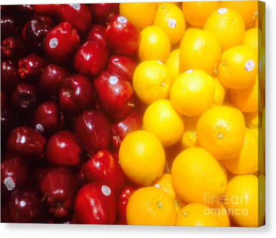 I'm Comparing Apples And Oranges Canvas Print