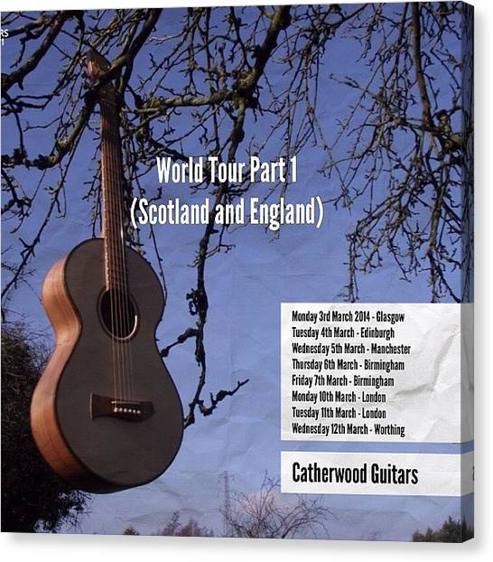 Mandolins Canvas Print - I'm Heading On A World Tour Part 1 by J Catherwood