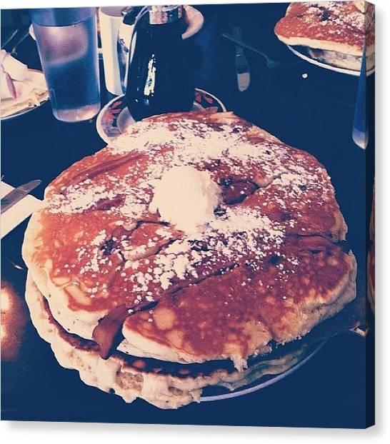 Bacon Canvas Print - I'm Hungover // #jetheros #pancakes by Stephanie Talbot