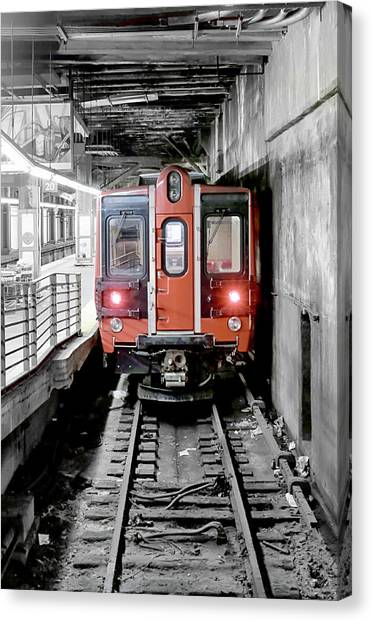 I'm Leaving On A Train Canvas Print