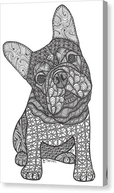 I'm Listening - French Bulldog Canvas Print