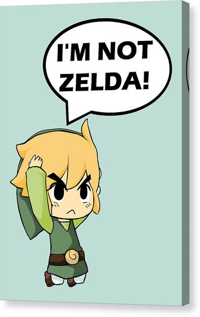 Playstation Canvas Print - I'm Not Zelda by Danilo Caro