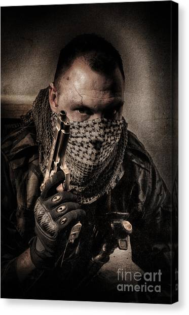 Call Of Duty Canvas Print - Im Only A Soldier by Rob Toombs