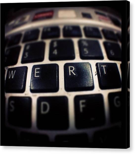 Keyboards Canvas Print - I'm The Keyboard Warrior. #qwerty by Ridwan Nurzeha