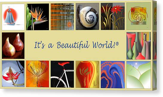 Imagery Canvas Print - Image Mosaic - Promotional Collage by Ben and Raisa Gertsberg
