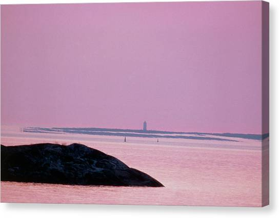 Mirages Canvas Print - Image Of A Mirage Of An Island by Pekka Parviainen/science Photo Library