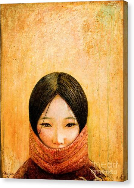 Red Eye Canvas Print - Image Of Tibet by Shijun Munns