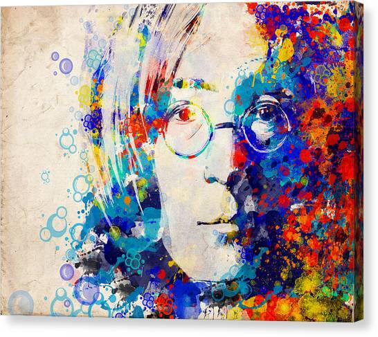 George Harrison Canvas Print - Imagine 5 by Bekim Art