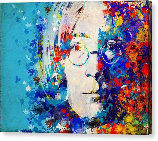 George Harrison Canvas Print - Imagine 6 by Bekim Art