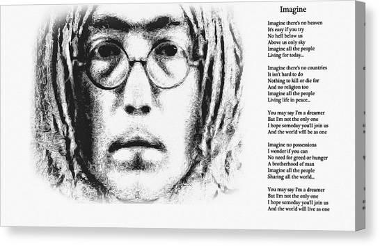 Yoko Ono Canvas Print - Imagine by Bill Cannon