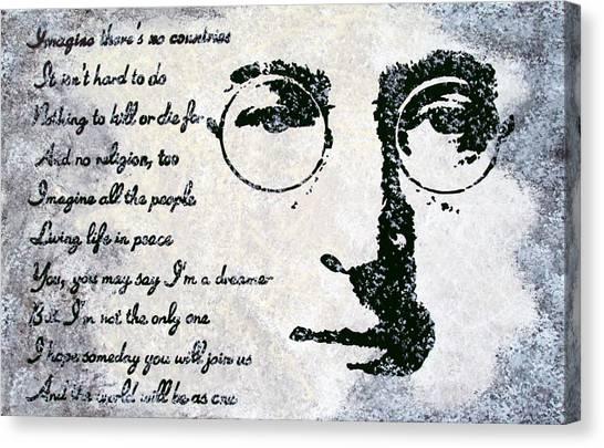Imagine-john Lennon Canvas Print by Bryan Dubreuiel
