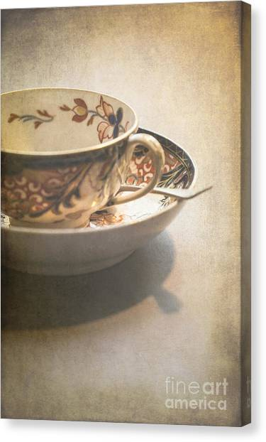Tea Canvas Print - Imari Cup And Saucer by Jan Bickerton