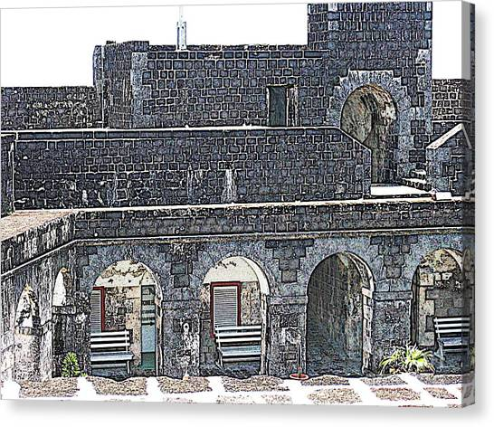 Fort Brimstone, St Kitts/nevis Canvas Print