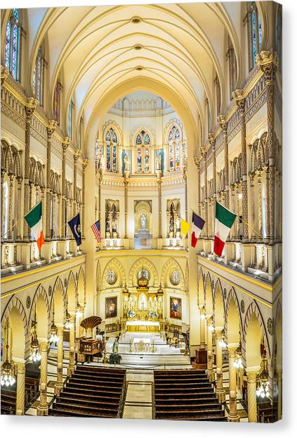 Immaculate Conception Jesuit Church - New Orleans Canvas Print