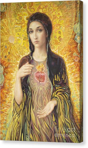 Heart Canvas Print - Immaculate Heart Of Mary Olmc by Smith Catholic Art