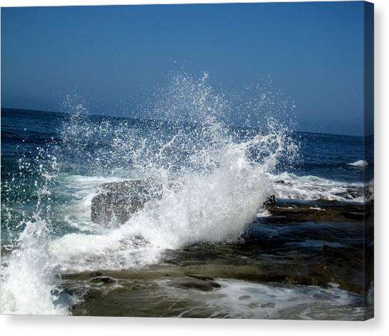 Impact Of The Sea Canvas Print