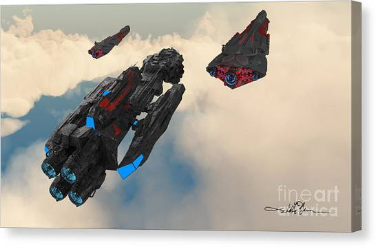 Imperial Fleet Launch Canvas Print