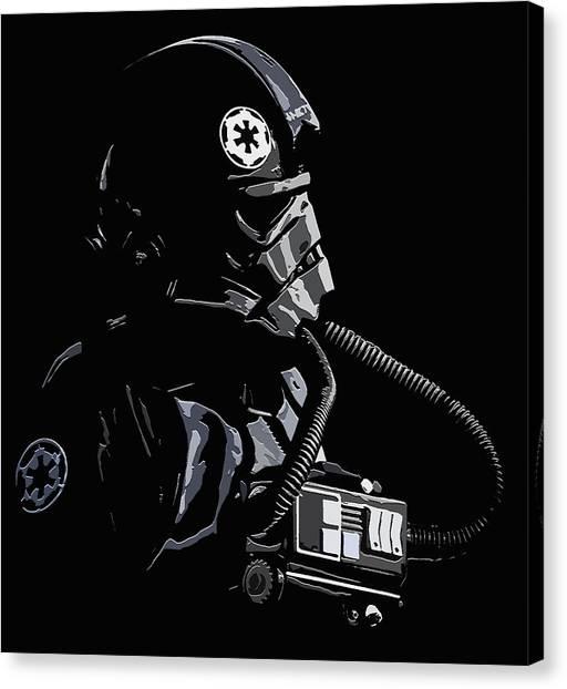 Imperial Tie  Pilot 2 Canvas Print