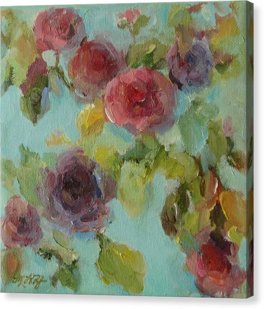 Impressionist Floral  Canvas Print