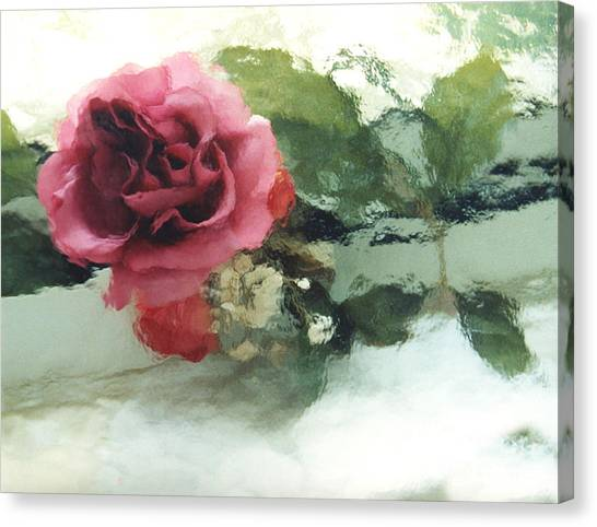 Impressionistic Canvas Print - Impressionistic Watercolor Roses, Romantic Watercolor Pink Rose  by Kathy Fornal