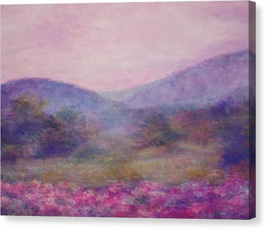 Impressionistic Foggy Summer Morning  Canvas Print
