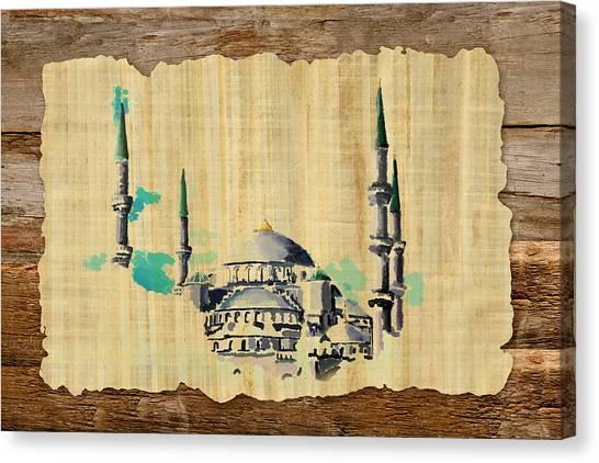Pilgrimmage Canvas Print - Impressionistic Masjid E Nabwi by Catf