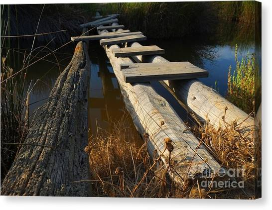 Improvised Wooden Bridge Canvas Print