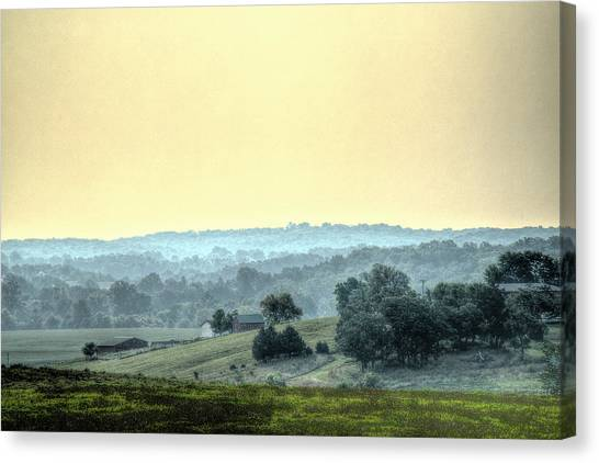 In A Misty Hollow Canvas Print