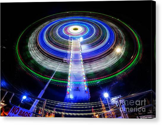 In A Spin Canvas Print