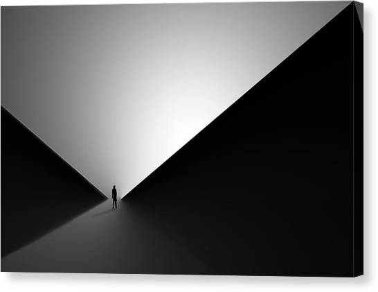 Triangles Canvas Print - In Between II by Iman Tehranian