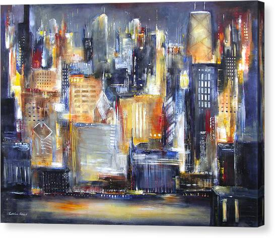 In Chicago Tonight Canvas Print by Kathleen Patrick