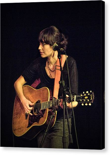 Folk Singer Canvas Print - In Concert With Folk Singer Pieta Brown by Randall Nyhof