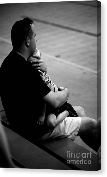 In Daddy's Arms Canvas Print