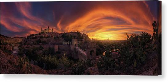 Sundown Canvas Print - In Flames by Iv?n Ferrero