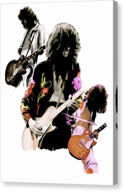 In Flight Iv Jimmy Page  Canvas Print