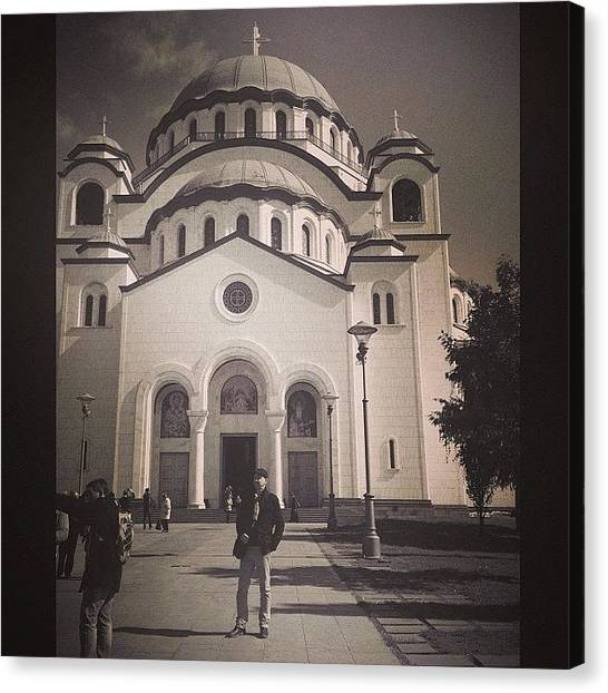 Orthodox Art Canvas Print - In Front Of The One Of The Biggest by Jan Kratochvil