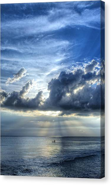 Beach Sunsets Canvas Print - In Heaven's Light - Beach Ocean Art By Sharon Cummings by Sharon Cummings