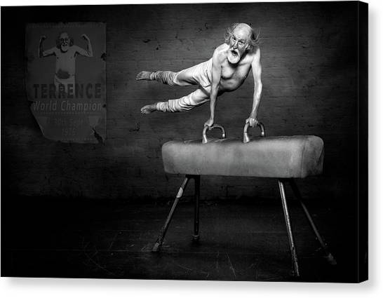 Humour Canvas Print - In His Prime by Kt Allen